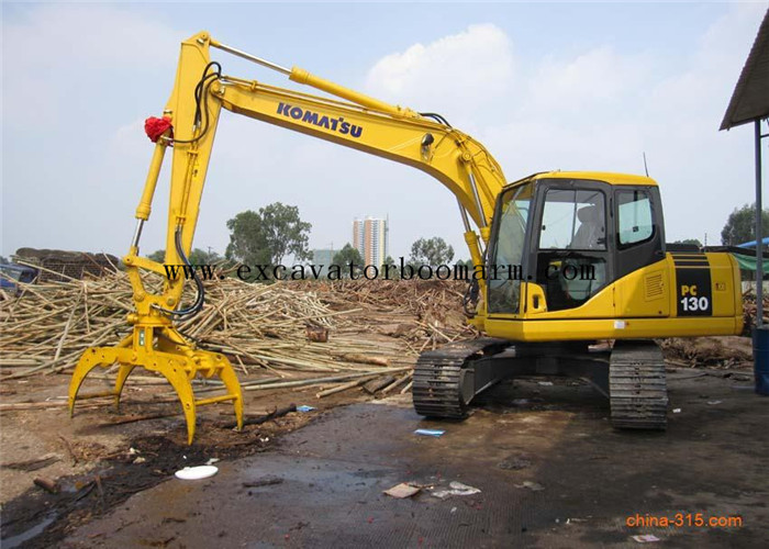 Material Handling Excavator Rotating Grapple Mini Digger Attachments Easy Operate